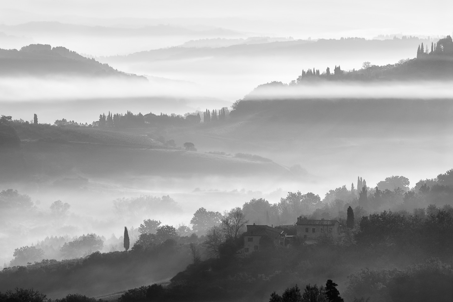 Mists In Idleness (detail –right), Tuscany, Italy, 2006